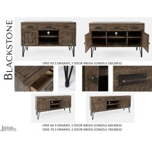 "Blackstone 50"" 3 Drawer, 2 Door Media Console"