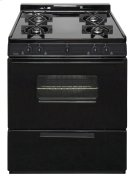 30 in. Freestanding Battery-Generated Spark Ignition Gas Range in Black Product Image