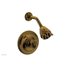 GEORGIAN & BARCELONA Pressure Balance Shower Set - Round Handle PB3361 - French Brass