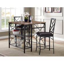 Ayden Counter Kitchen Island Dining