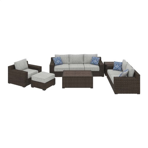 Alta Grande - Beige/Brown 8 Piece Patio Set