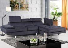 Madison Grey Polyester Fabric LAF Loveseat