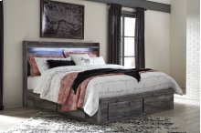 Baystorm - Gray 5 Piece Bed Set (King)