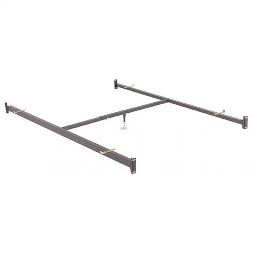 82-Inch 515/1B Deluxe Full to Queen Conversion Bed Rails with Bolt-On Brackets and Adjustable Center Support for Headboards and Footboards, Queen
