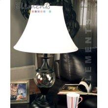 Glass & Metal Table Lamp