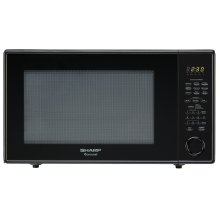 2.2 cu. ft. 1200W Sharp Black Countertop Microwave Oven (R-659YK)