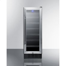 """12"""" Wide Built-in Undercounter Wine Cellar With Digital Thermostat and LED Lighting"""