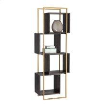 Jigsaw Bookcase - Brown