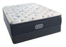 BeautyRest - Silver - Sea Glass Plush Pillow Top - Queen 2 pc. Mattress Set