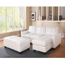 WH REV. SECTIONAL SOFA & OTTOM