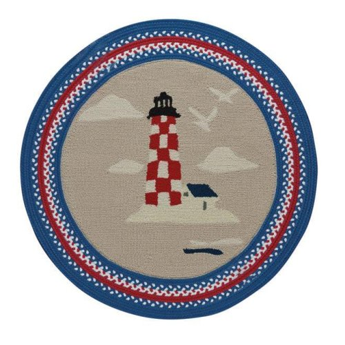 Hyport-Lighthouse Red Braided Rugs