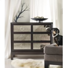 Living Room Melange Six Drawer Mirrored Front Chest
