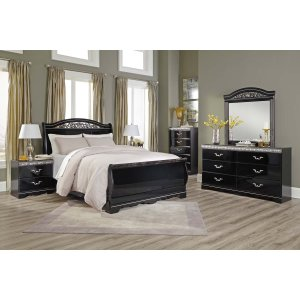 AshleySIGNATURE DESIGN BY ASHLEYConstellations - Black 5 Piece Bedroom Set