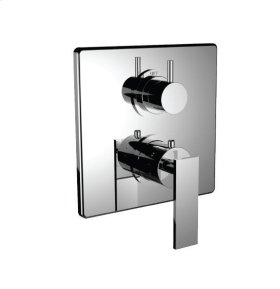 """1/2"""" Thermostatic Trim With 3-way Diverter Trim (shared Function) in Orobrass"""
