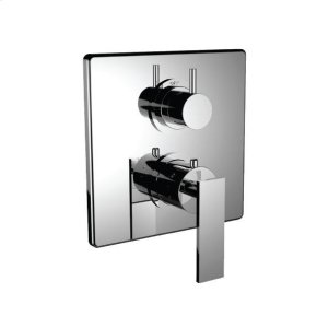 "1/2"" Thermostatic Trim With 3-way Diverter Trim (shared Function) in Standard Pewter"