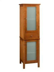 Contemporary Linen Cabinet Storage Tower in Cinnamon