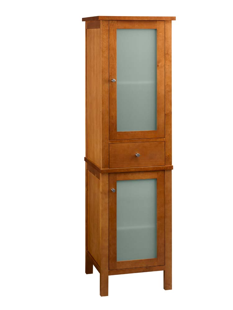 Delicieux Contemporary Linen Cabinet Storage Tower In Cinnamon