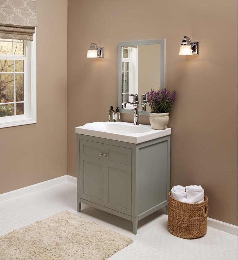 Briella 30 Bathroom Vanity Cabinet Base In Ocean Gray