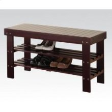 Espresso Bench W/shoe Rack