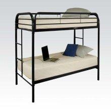 BLACK TWIN/TWIN BUNK BED