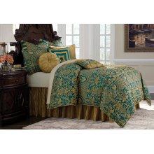 10 pc King Comforter Set Turquoise