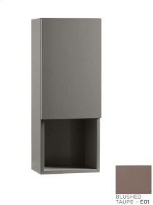 """Contemporary 12"""" Bathroom Wall Cabinet in Blush Taupe"""