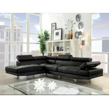 CONNOR BLACK PU SECTIONAL SOFA