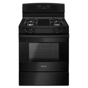 Amana30-inch Gas Range with Self-Clean Option Black