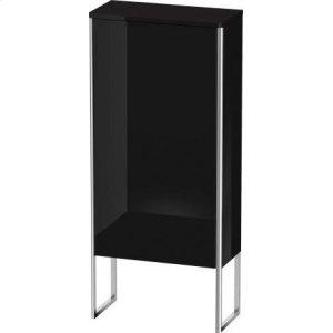 Semi-tall Cabinet Floorstanding, Black High Gloss Lacquer