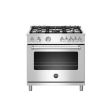 36 inch All Gas Range, 5 Burners Stainless Steel