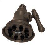 "RohlTuscan Brass 4"" Mantova Adjustable Showerhead"