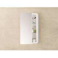 "Mirrored Sliding Door 12"" x 32"" Bathroom Wall Cabinet"