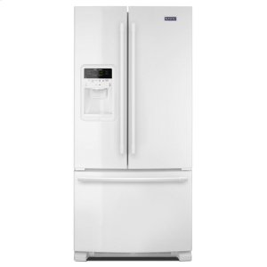 33- Inch Wide French Door Refrigerator with Beverage Chiller Compartment - 22 Cu. Ft. - WHITE