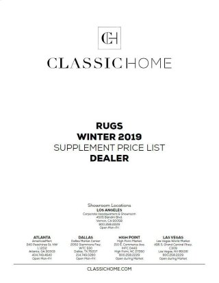 2019 Rug Pricelist Winter - Dealer