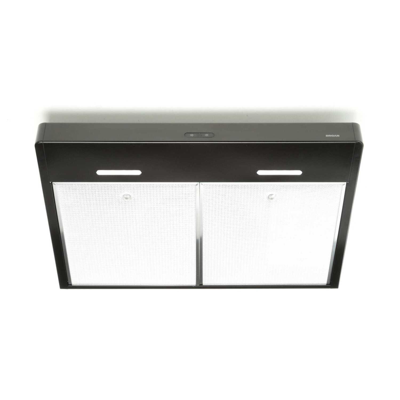 BroanTenaya 36-Inch 300 Cfm Black Under-Cabinet Range Hood With Led Light