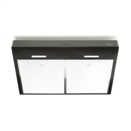 Tenaya 30-inch 300 CFM Black Under-Cabinet Range Hood with LED light