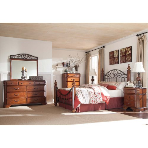Wyatt - Reddish Brown 2 Piece Bedroom Set