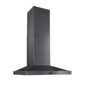 BroanBroan® 30-Inch Convertible Wall-Mount Chimney Range Hood, 500 CFM, Black Stainless Steel