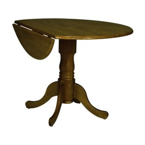 JOHN THOMAS FURNITURERound Dropleaf Pedestal Table in Oak