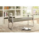 Contemporary Chrome and Champagne Bench Product Image