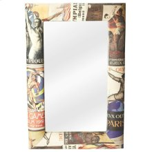 The grand scale and impeccably upholstered frame embue this mirror with Olympic style.