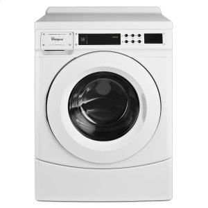 "Whirlpool27"" Commercial High-Efficiency Energy Star-Qualified Front-Load Washer, Non-Vend White"