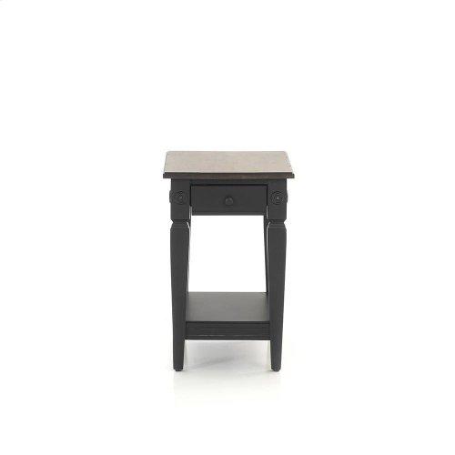 Glennwood Chairside Table  Black & Charcoal