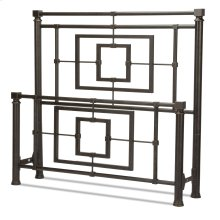 Sheridan Bed with Squared Metal Tubing and Geometric Design, Blackened Bronze Finish, California King