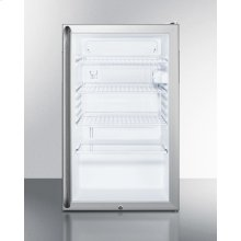 "Commercially Listed 20"" Wide Glass Door All-refrigerator for Freestanding Use, Auto Defrost With A Lock, Full-length Handle, and White Cabinet"
