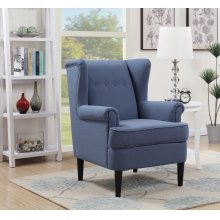 Waller Blue Wingback Accent Chair