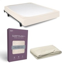 Sleep Plush StyleWrap Ivory Fabric Box Spring Cover, Queen