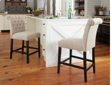 Tripton - Medium Brown Set Of 2 Dining Room Barstools
