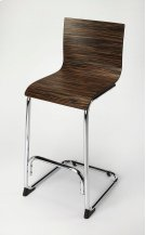 Sleek and contemporary, this iron and rubberwood barstool is inviting and oh so comfortable! The oak finish adds character. The Bentwood seat and back are carefully constructed to provide support. The sleek lines and simple engineering make this a grea Product Image