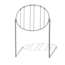 Emory Kids Metal Headboard Panel with Oval Shape Design, Grey Finish, Full